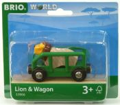 BRIO 33966 Lion & Wagon